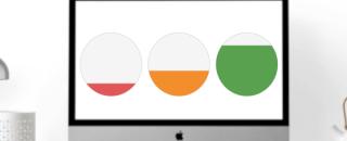Круговые диаграммы — как сделать заливку в зависимости от значения